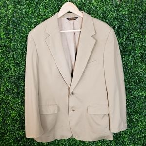 Brooks Brothers Mens Tan Suit Blazer Jacket